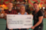Molo Lounge present big cheque to Southend homeless charity HARP