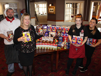 Toby Carvery collect Easter eggs for local homeless people