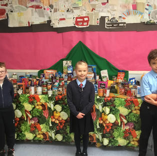 Riverside Primary School had a fantastic Harvest display