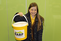 Young fundraiser for HARP Southend;s homeless charity