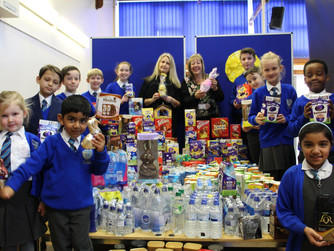 Our Lady of Lourdes Catholic School collect Easter treats for local homeless people.