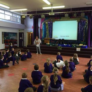 A Harvest Assembly at Heycroft School