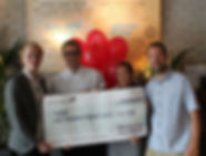 Revolution Southend present big cheque to HARP Southend Homeless Charity Essex