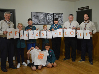 Scouts sign up for #EssexSleepOut!