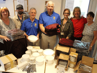 Crockery and blanket donation helps make homeless hostel more homely