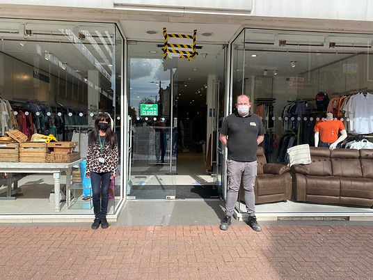 Sue Shelley and Ben Hammond outside new