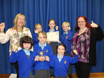 Pupils at Leigh North Street Primary School win fundraising award