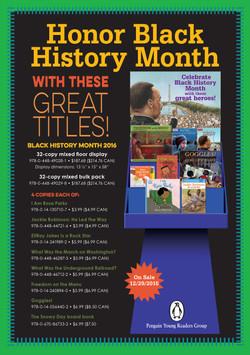 Display Sell Sheets - Black History