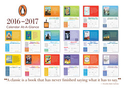Penguin Young Readers Calendar 2017 contents