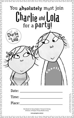 Charlie and Lola Customizable Event Poster