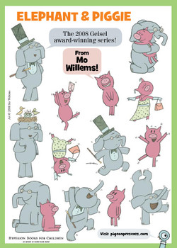 Elephant Piggie stickers