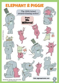 Elephant Piggie stickers