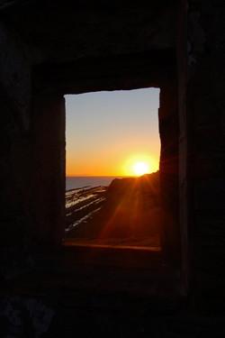 Sunset at the ruins