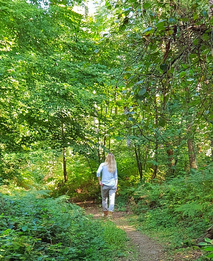 Walkies in the woods with wifey