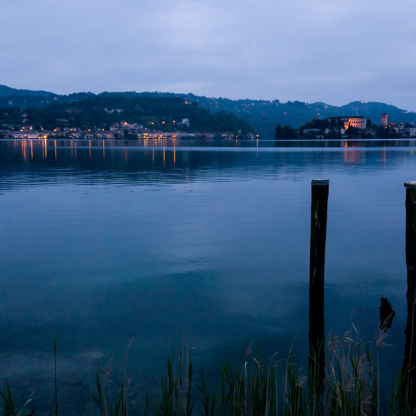 Dusk view across the lake