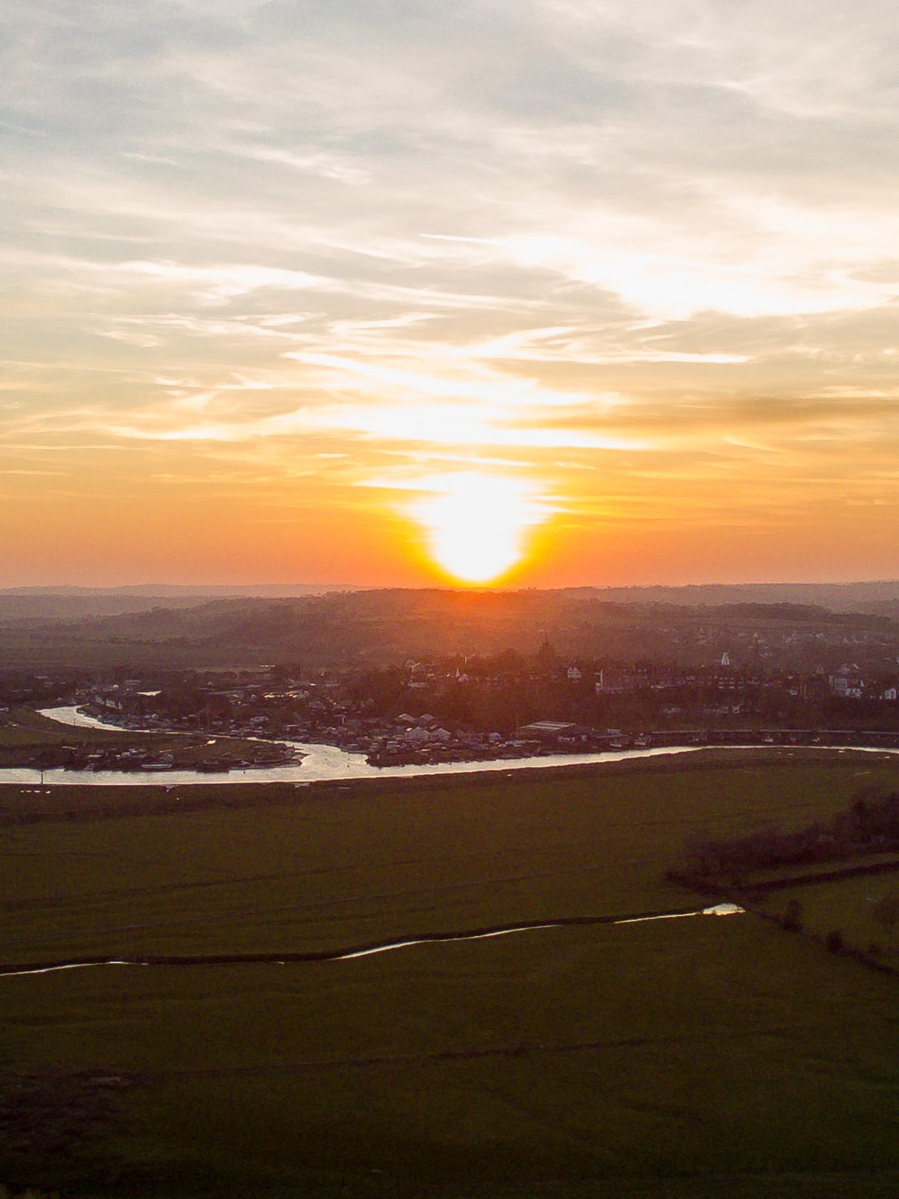 Sunset over Rye