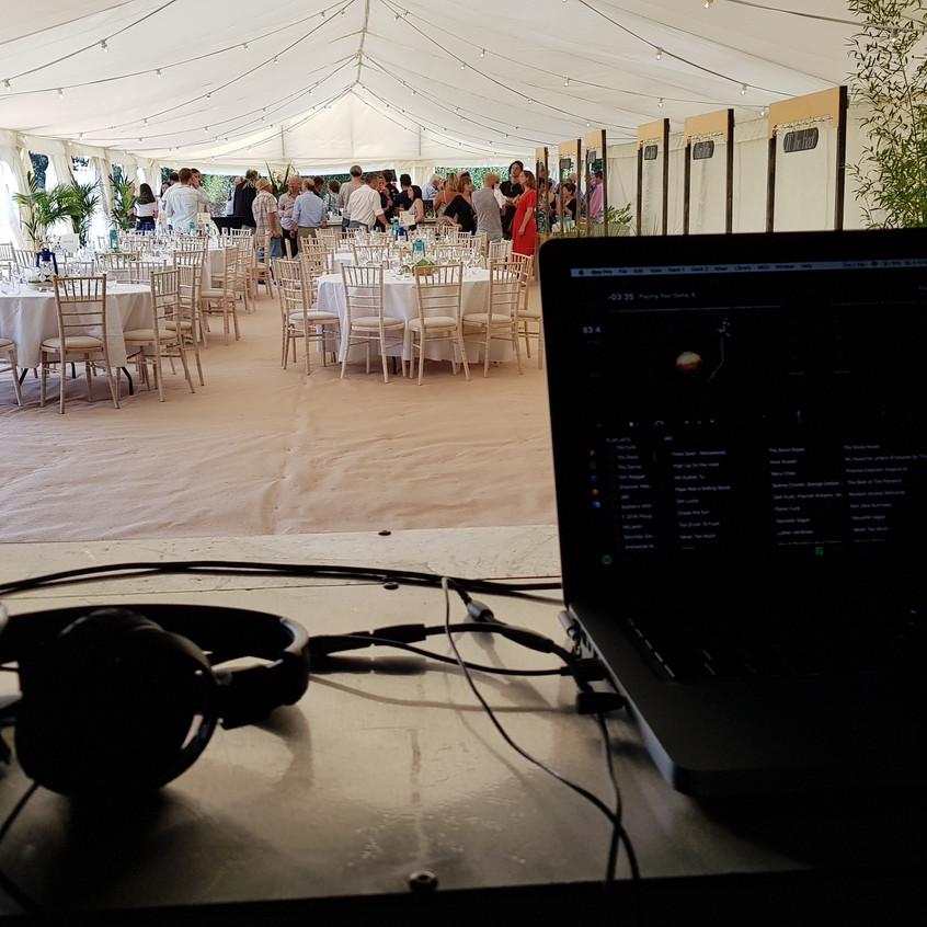 DJing at a wedding afterparty
