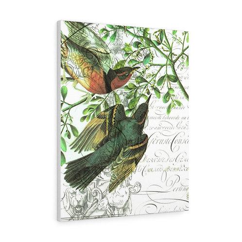 Vintage Bird Collage No.508 Canvas Gallery Wrap