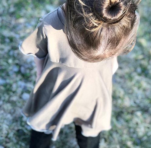 'All the Frills' Dress (Hazelnut)