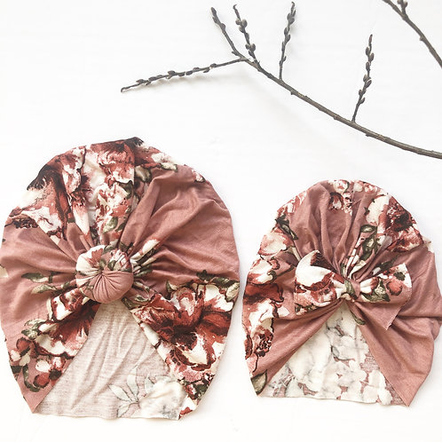 Rose floral Turban/headwrap