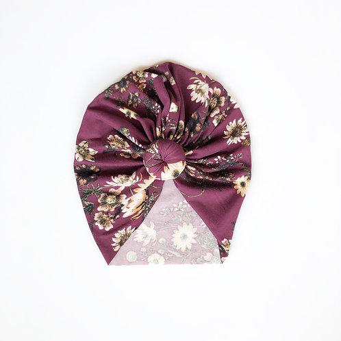 'Fall into fall' floral turban
