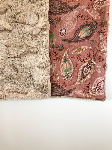 Baby blanket 'Boho paisley in Dusty pink'