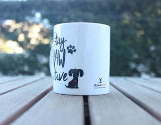 """Caneca """"STAY PAW-SITIVE"""" €8.50"""