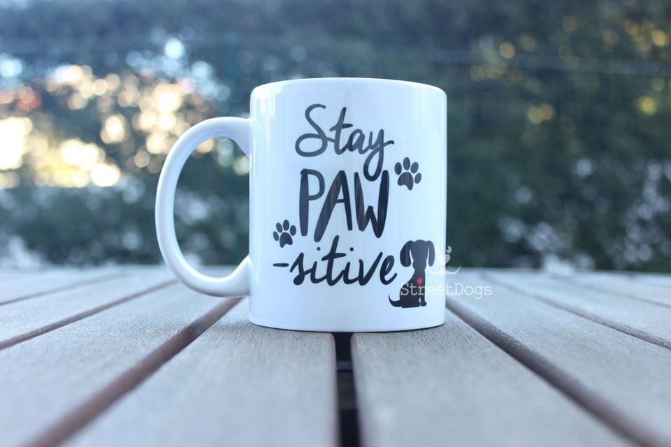 "Caneca ""STAY PAW-SITIVE"" €8.50"