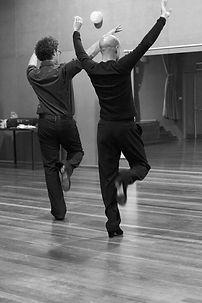 Tomás Dietz trains a male flamenco dancer