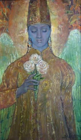 121. Ангел с розами 65х30 х, м. 2011.jpg
