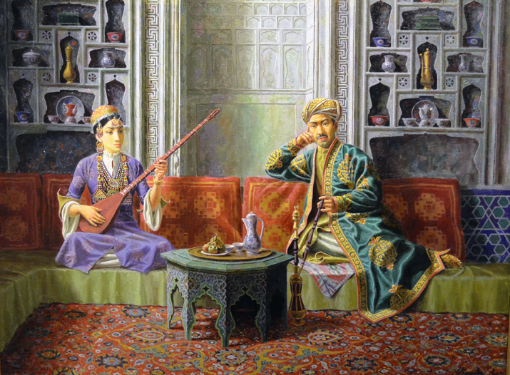 Алишер Аликулов. Слушая Муножат. 2011, х.м.,61х81