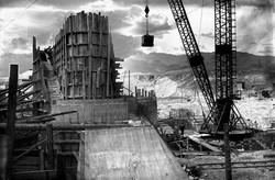 Левобережные устои плотины Головного узла.1936.jpg