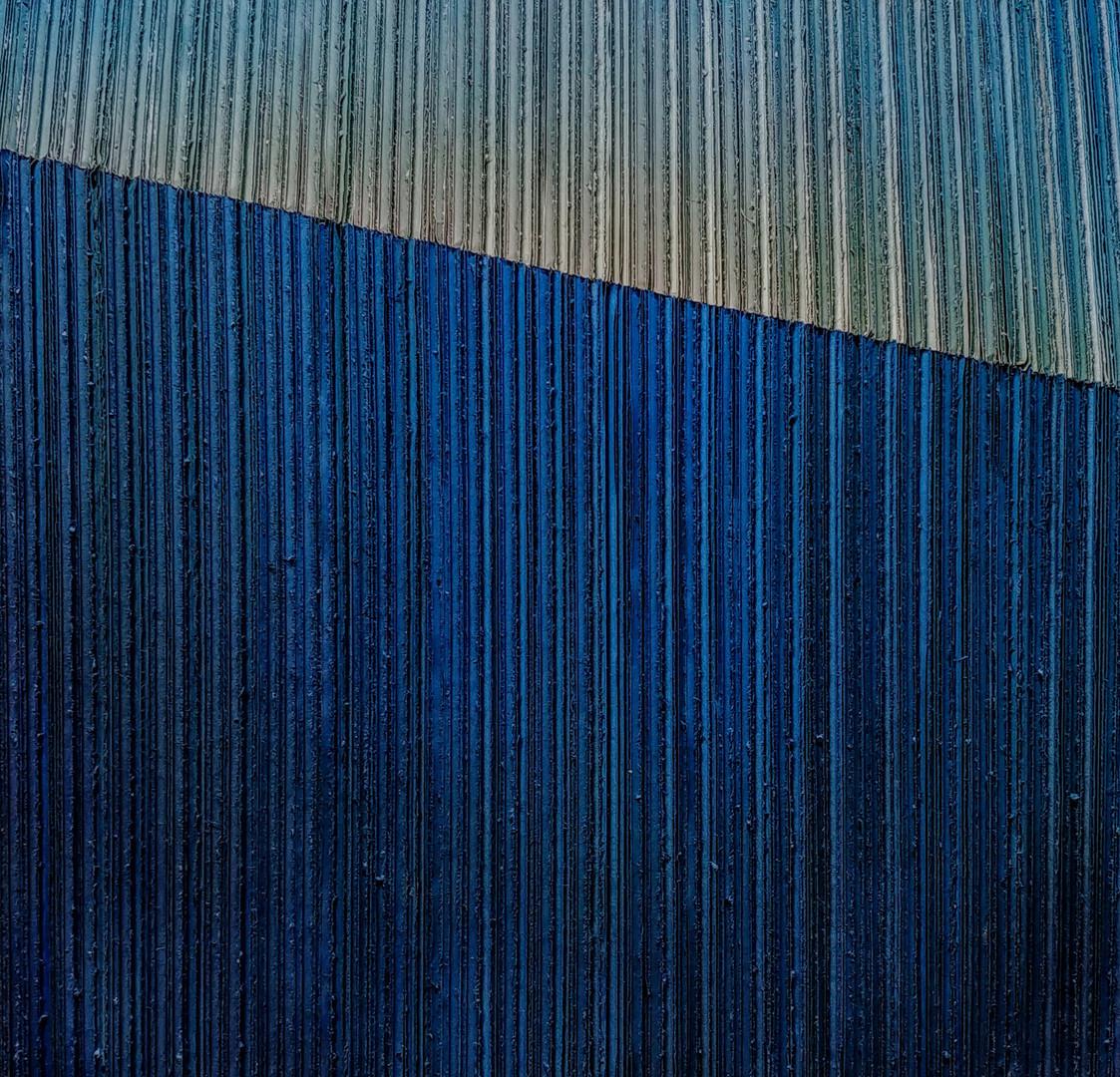 kim wan. edge- touch the blues 2018. 40X