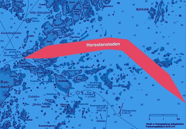 Hur Horsstensleden ska dras i Stockholms skärgård