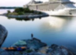 Kryssningsfartyg i Stockholms skärgård