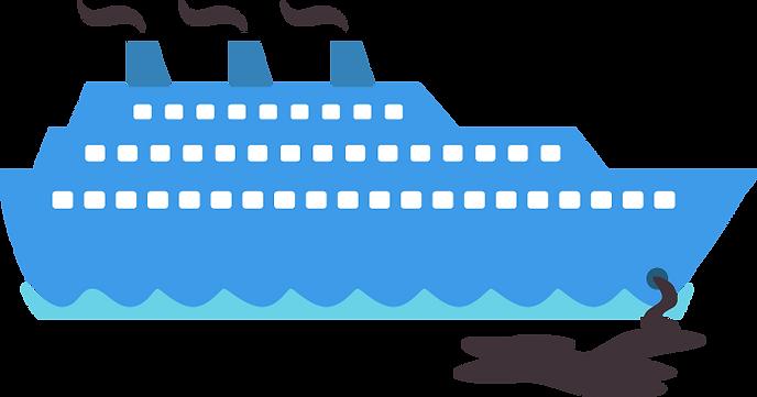 Kryssningsfartyg som tömmer latriner