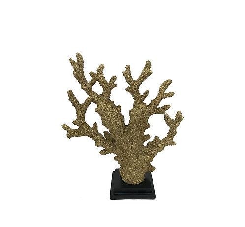 GOLD CORAL RESIN ON BASE 34h