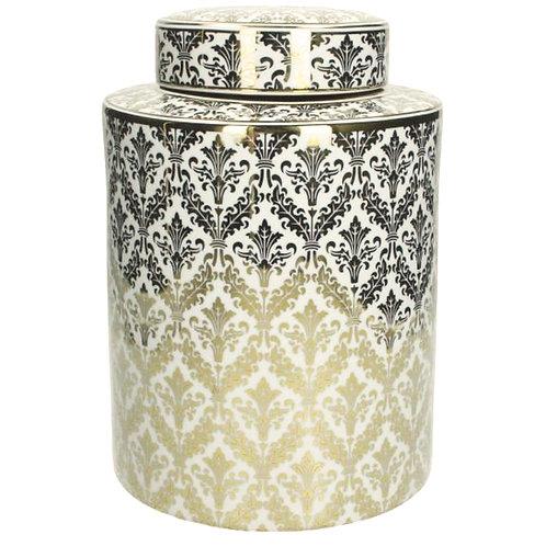 Porcelain Jar Gold Tall