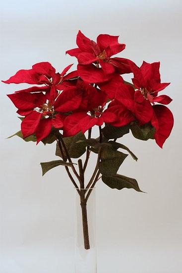 Velvet Poinsettia Bush 70cm