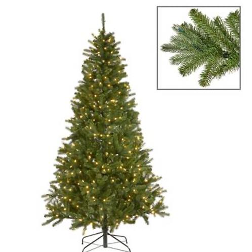 420 LED LIT FRENCH TIPS PINE TREE GRN 225CM1088TPS