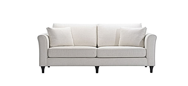 White sofas isolated with clipping mask_