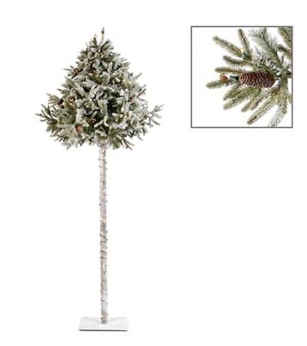 250 LED L.LT FLOCK UMBR.PINE TREE WH 240CM 568TPS