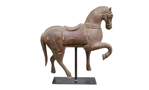Elm Shanxi Horse Statue VR