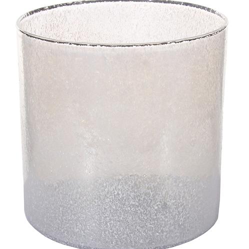 White Crinkled Vase