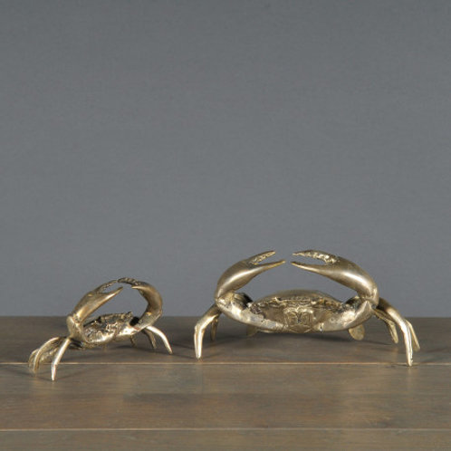 Pair of Silvery Crabs
