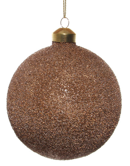Glass ball brown gold beaded 10cm