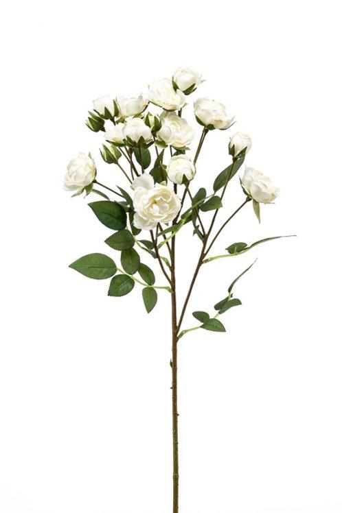Rose Mini Spray white 57cm