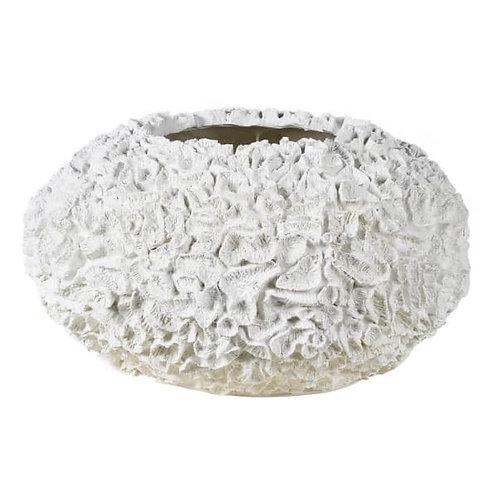 Large White Textured Bowl