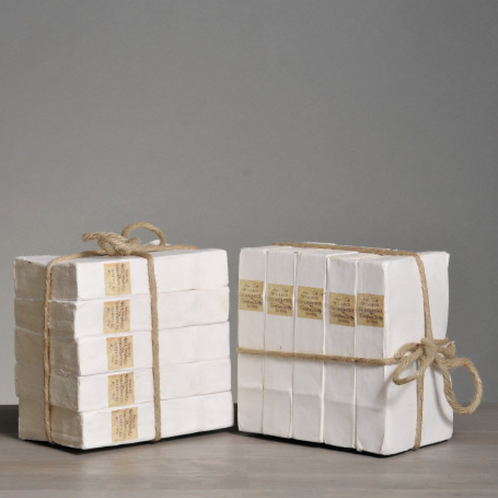 Small Blank White Covered Books (set of 5)