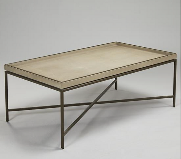 RL Collins Coffee Table Shagreen - Chalk